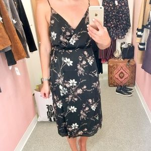 astr floral Midi wrap dress nordstrom